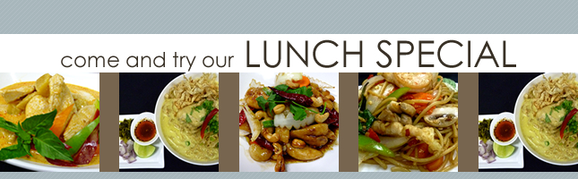Come and try our lunch special Khao San Thai Restaurant on 17th Ave SW Calgary